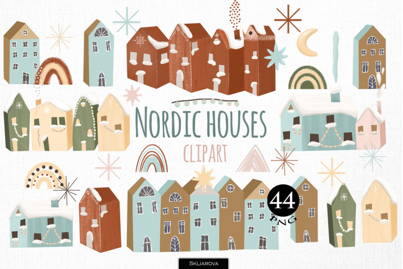 nordic-houses-clipart