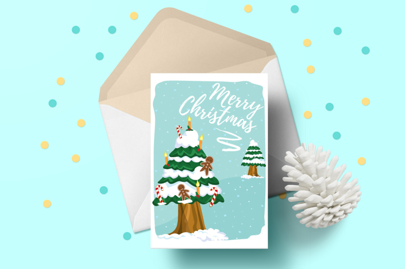 Christmas Cards By Land Art Thehungryjpeg Com
