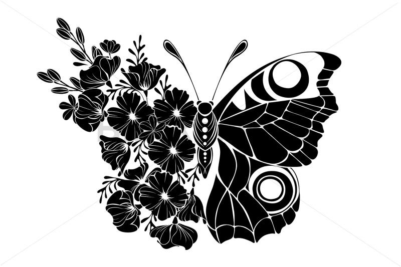 flower-butterfly-with-black-california-poppy