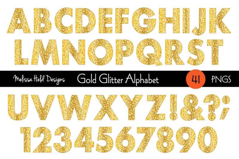 gold-glitter-digital-alphabet