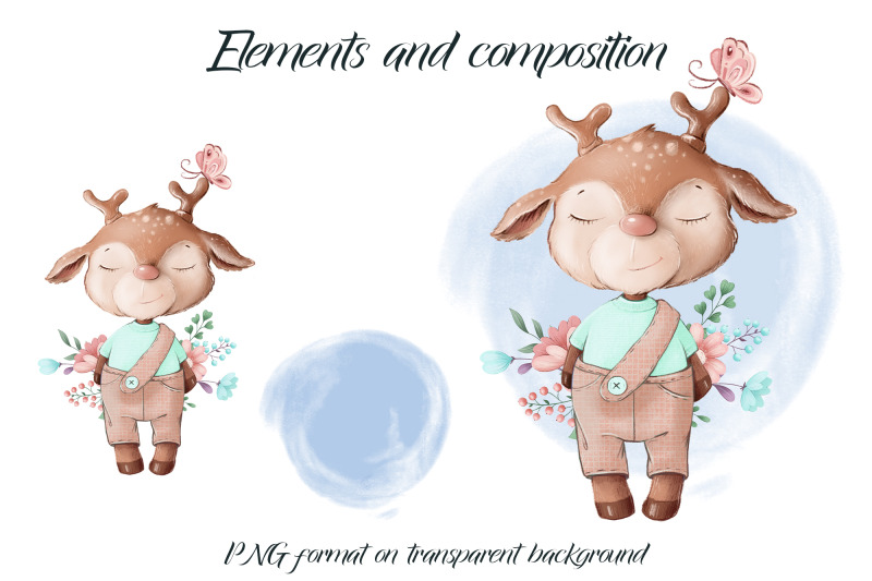 cute-deer-sublimation-design-for-printing