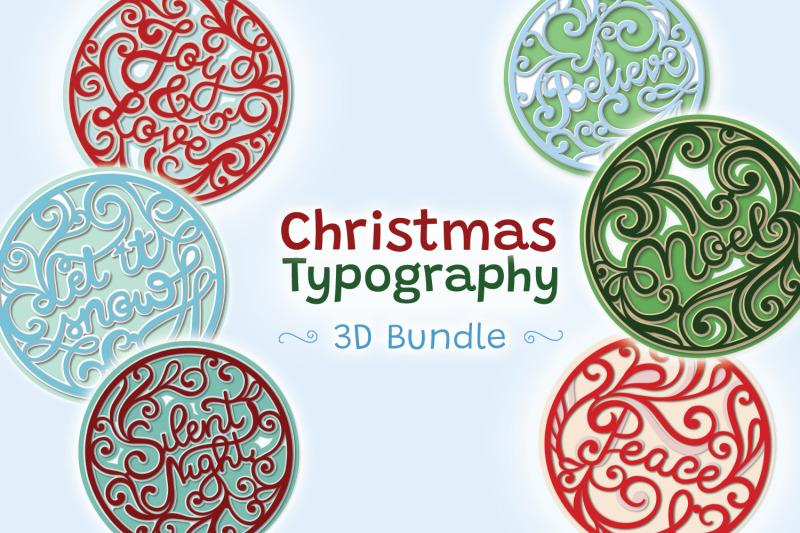 christmas-typography-3d-bundle-8-svg-items