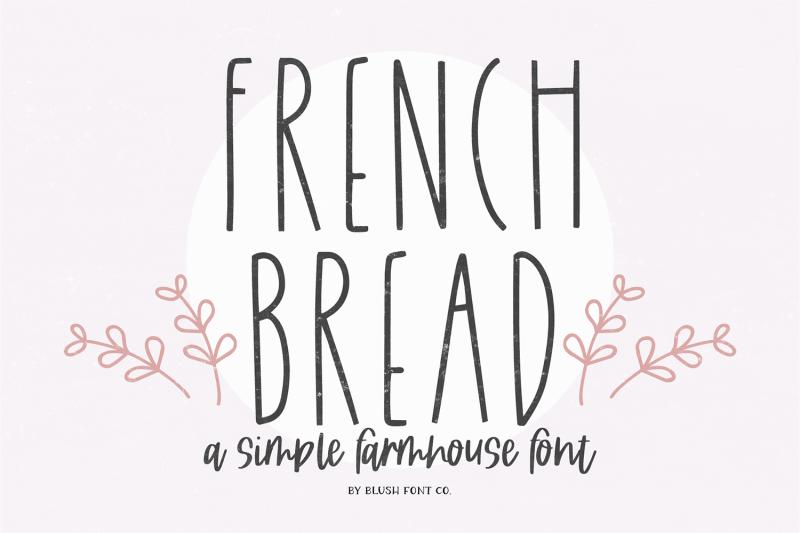french-bread-farmhouse-font