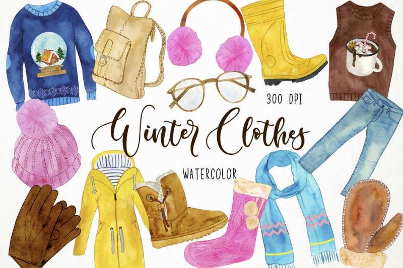 watercolor-winter-clothes-clipart-winter-fashion-clipart-cozy-clothe