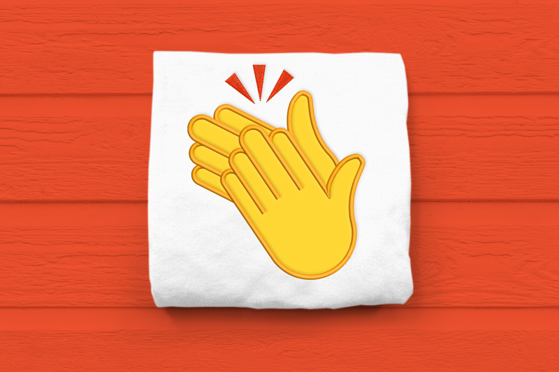clapping-hands-emoji-applique-embroidery