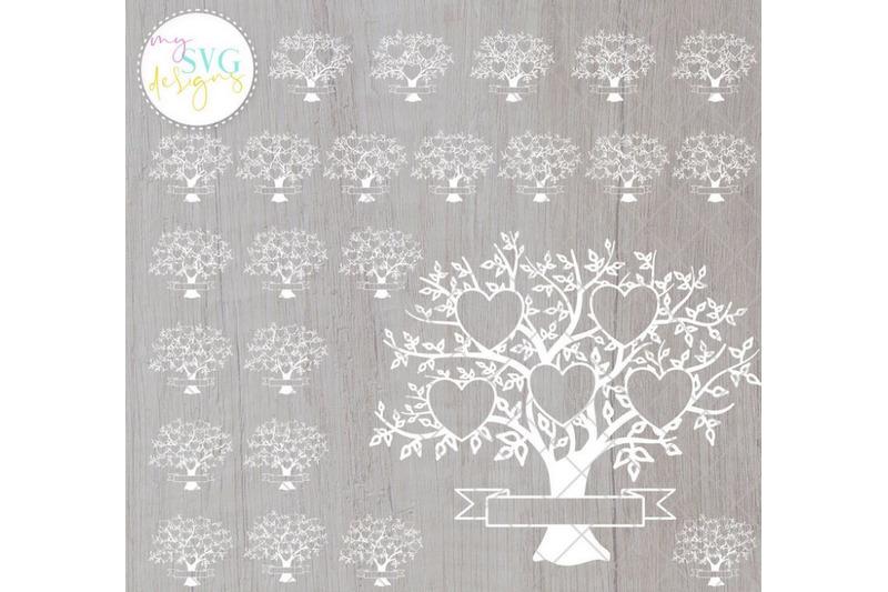 family-tree-svg-bundle-2-25-members