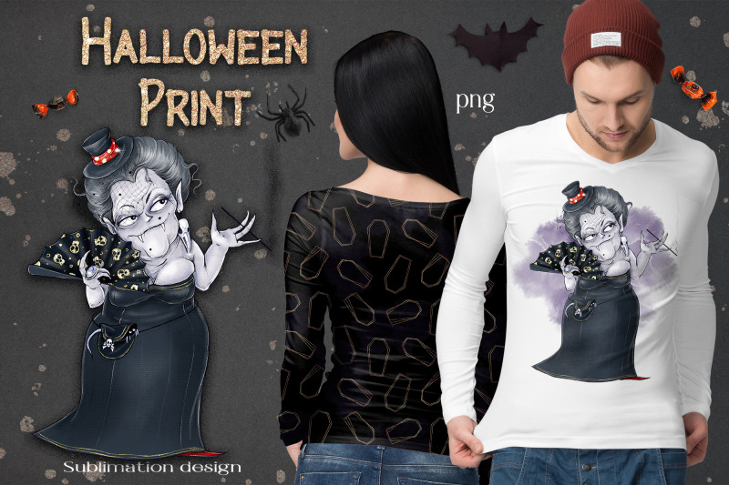 halloween-vampire-sublimation-design-for-printing