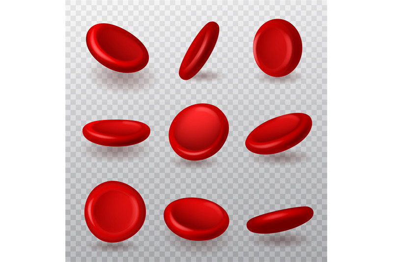 red-blood-cells-realistic-3d-erythrocytes-different-angles-collection