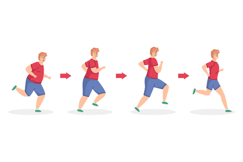 weight-loss-stages-running-man-healthy-sport-lifestyle-diet-and-phy