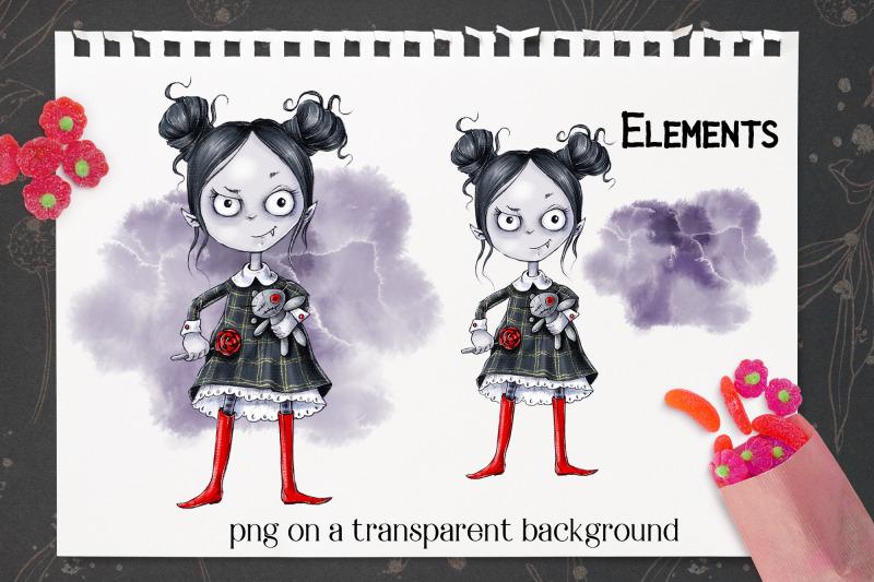 halloween-vampire-girl-sublimation-design-for-printing