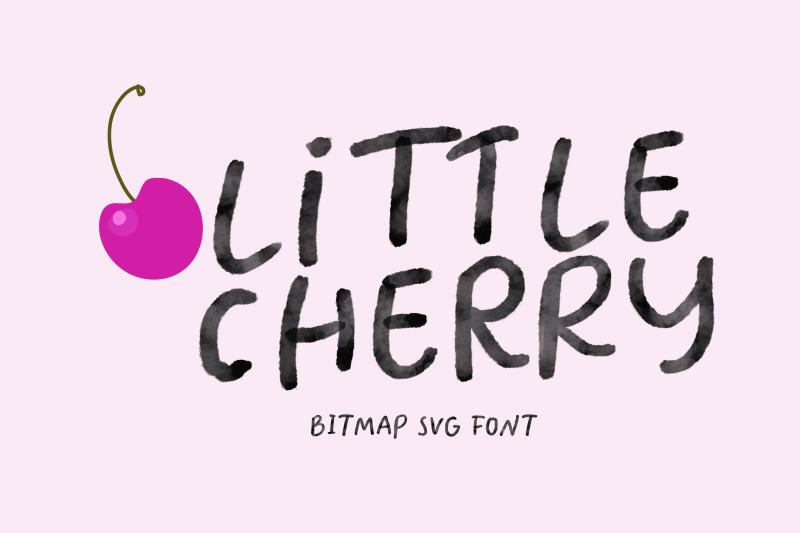 little-cherry-svg-watercolor-font