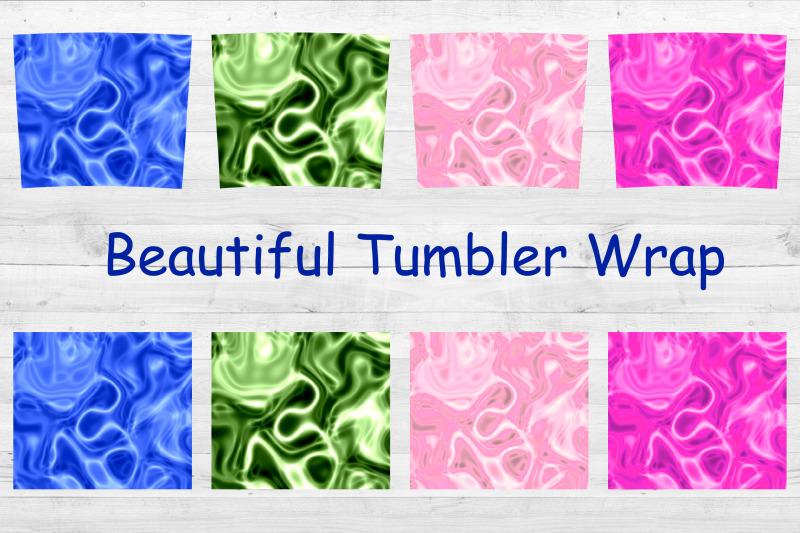 tumbler-sublimation-waves-20-oz-tumbler-skinny-wrap-foil