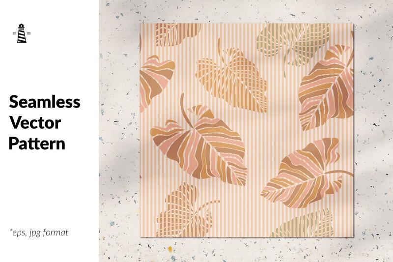 trendy-palm-leaf-seamless-pattern