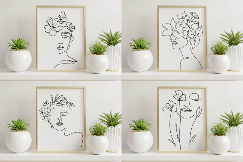 floral-women-line-art-svgs-floral-girl-line-art-svgs