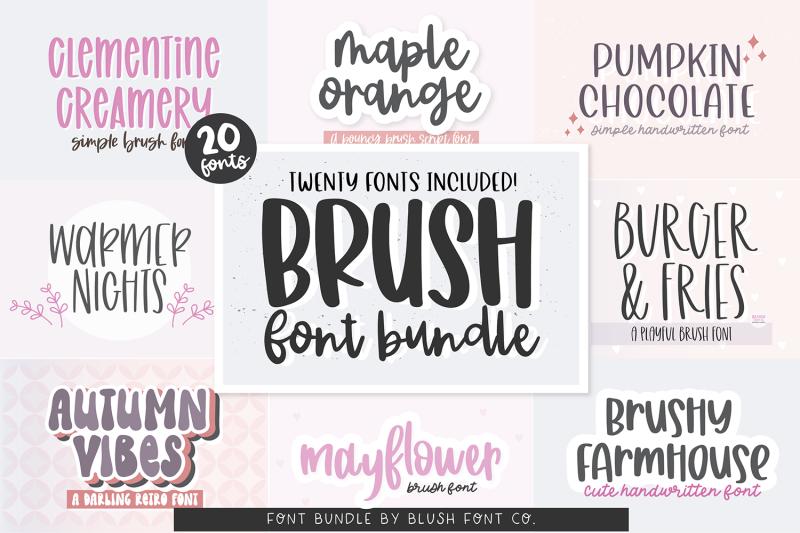 20-fonts-brush-font-bundle
