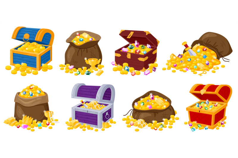 cartoon-pirate-wooden-chests-fabric-bags-with-golden-treasures-and-ge