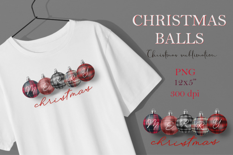 christmas-balls-in-a-checkered-plaid-sublimation