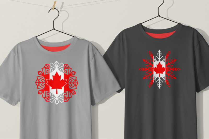snowflakes-with-the-flag-of-canada
