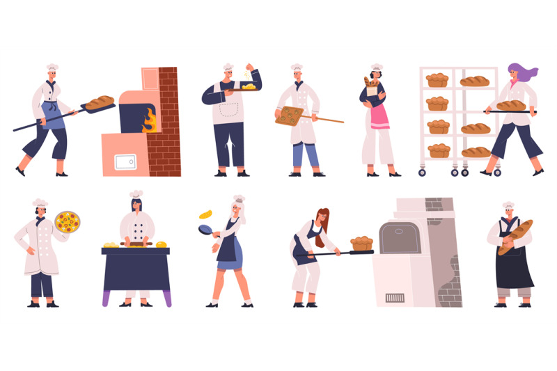 professional-bakers-characters-cooking-baking-bread-and-pastry-baker