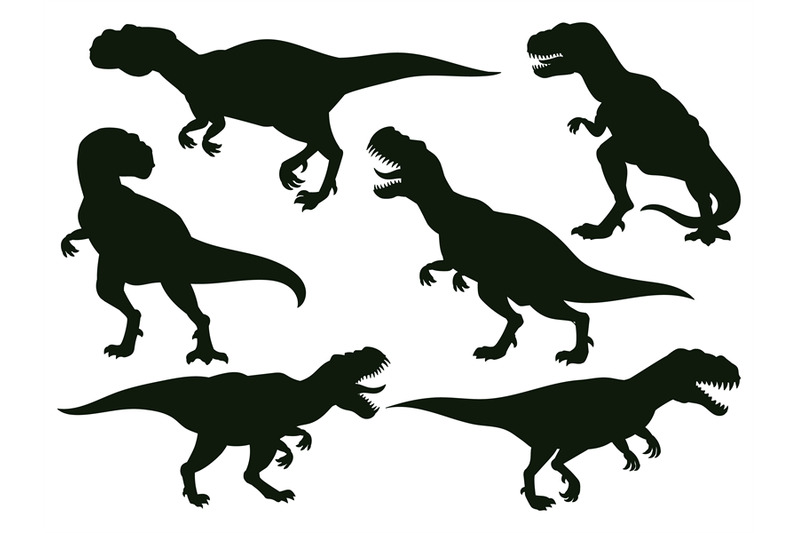 cartoon-jurassic-predator-tyrannosaurus-rex-extinct-t-rex-silhouette