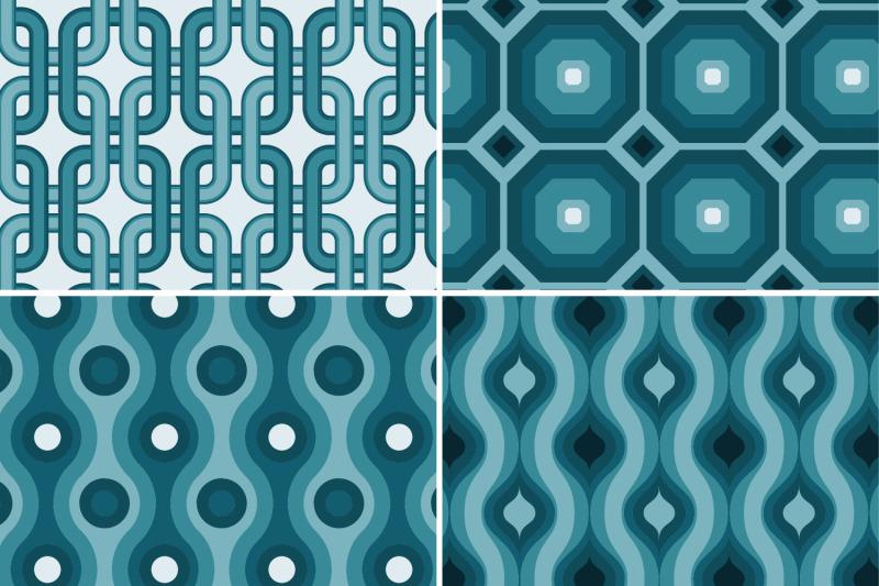8-seamless-modern-retro-patterns-teal