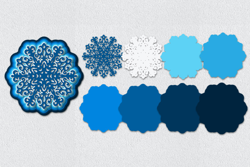 four-multilayer-snowflakes