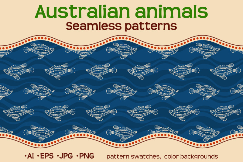 10-color-australian-seamless-patterns-with-animals