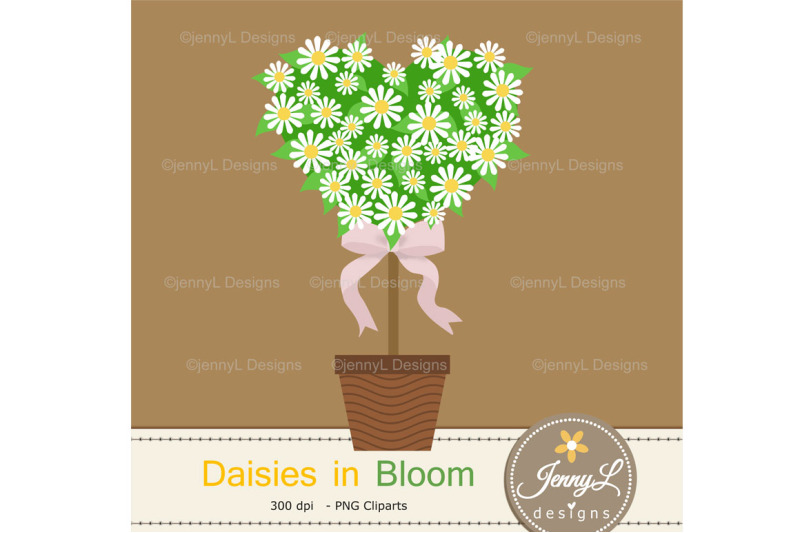 daisy-flower-topiary-digital-papers-and-clipart