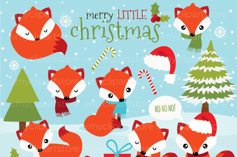 red-christmas-fox-vector-clipart