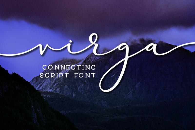 virga-connecting-script-font