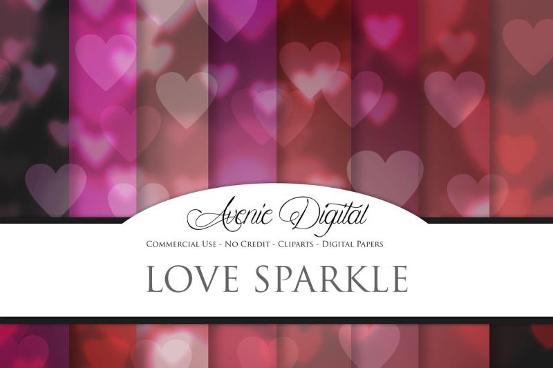 love-sparkle-bokeh-digital-paper