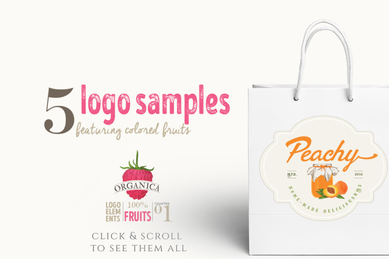 organic-logo-elements-fruits