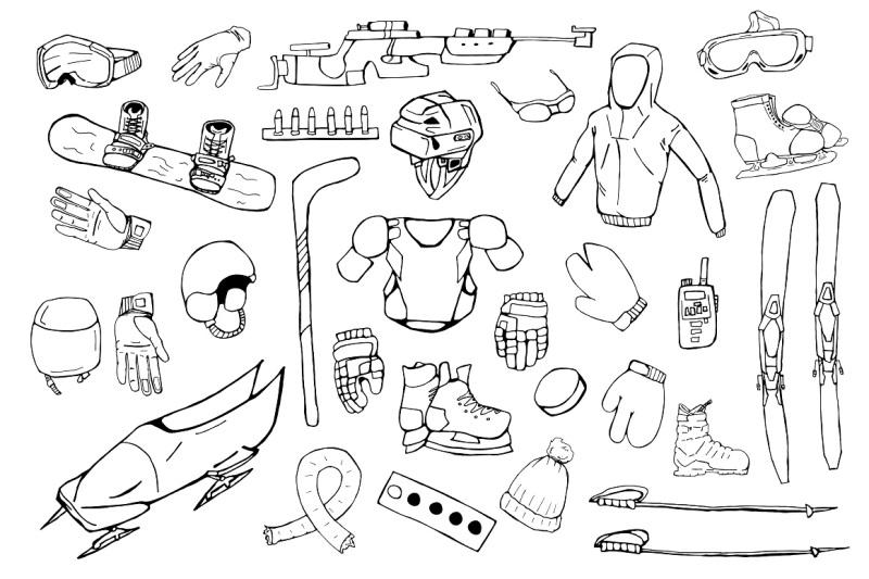 hand-drawn-winter-sports-equipment