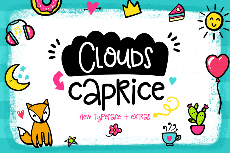 clouds-caprice-typeface-with-extras