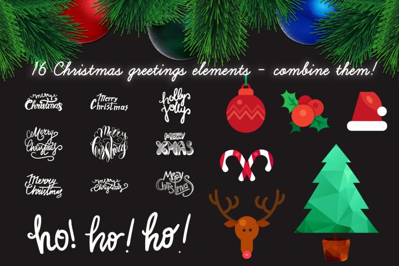 Christmas Greetings Creator By Barsrsind Shop Thehungryjpeg Com