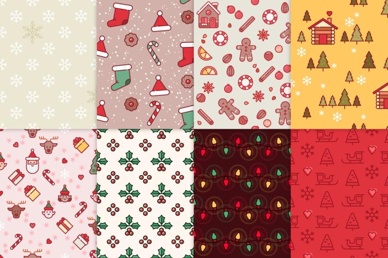 16-christmas-seamless-patterns