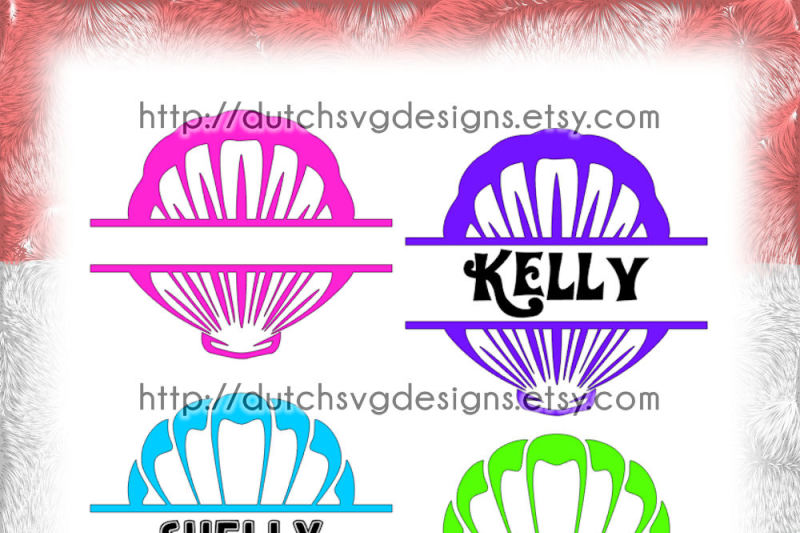 2-shell-split-border-cutting-files-for-monograms-and-texts-in-jpg-png-dxf-eps-svg-for-cricut-and-silhouette-decorative-conch-concha-schale