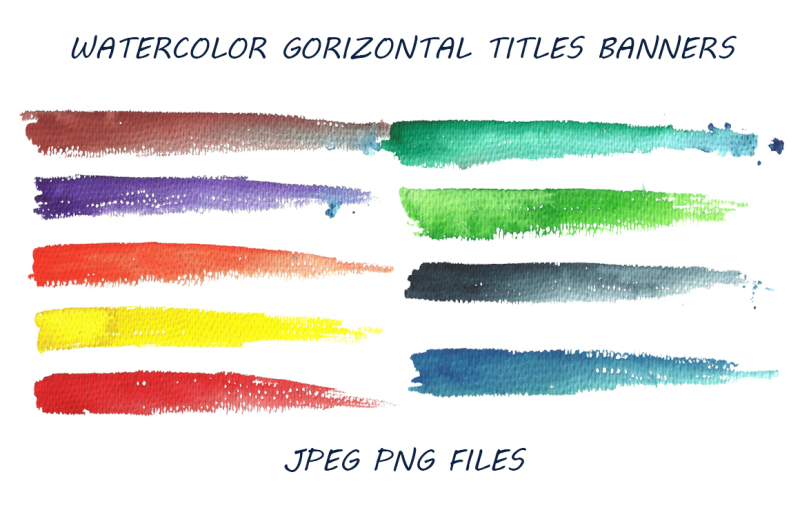 watercolor-banners-for-titles