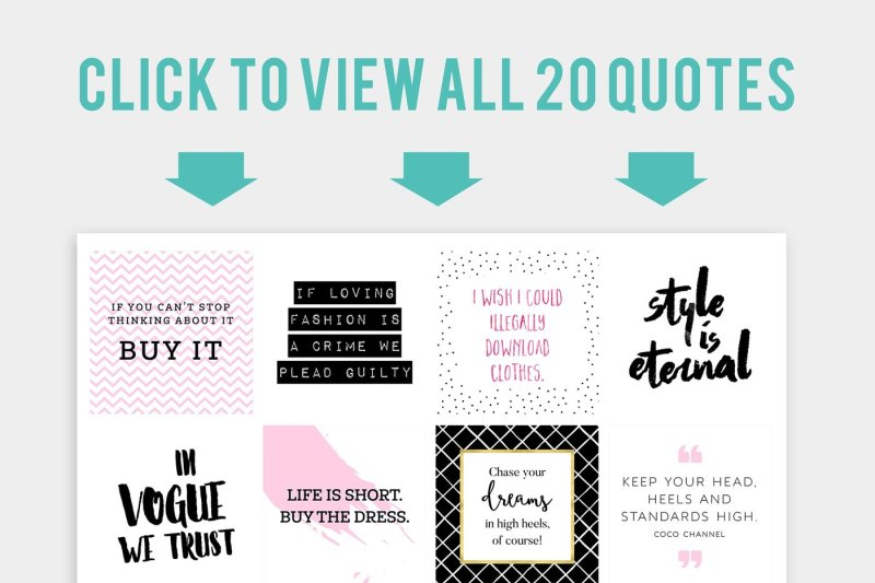 Ultimate Fashionista S Quotes Bundle By Garlic Friday Design