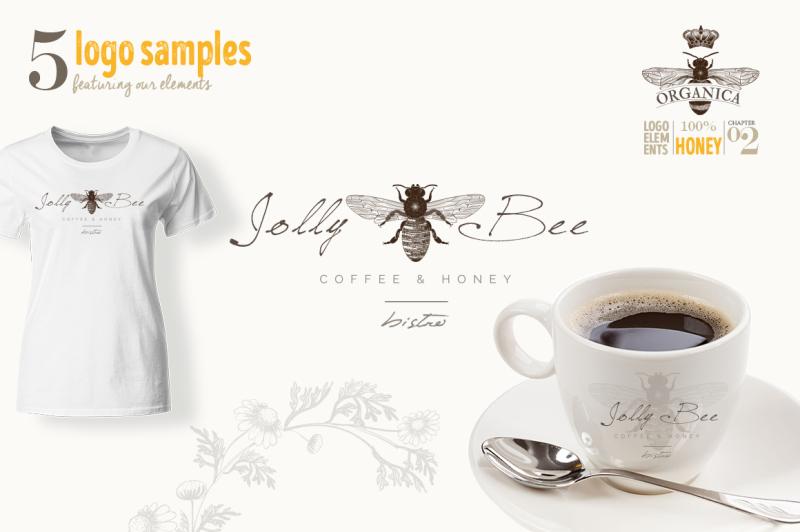 organic-logo-elements-honey