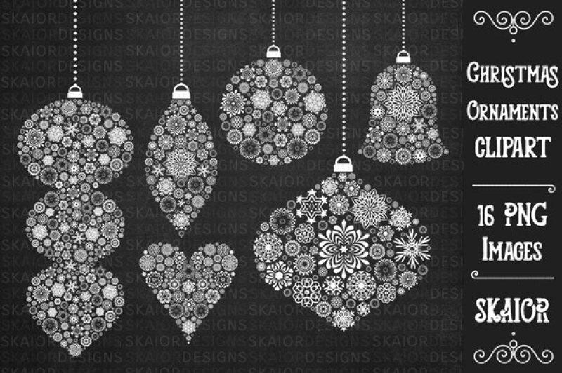 white-christmas-tree-ornaments-clipart-chalkboard