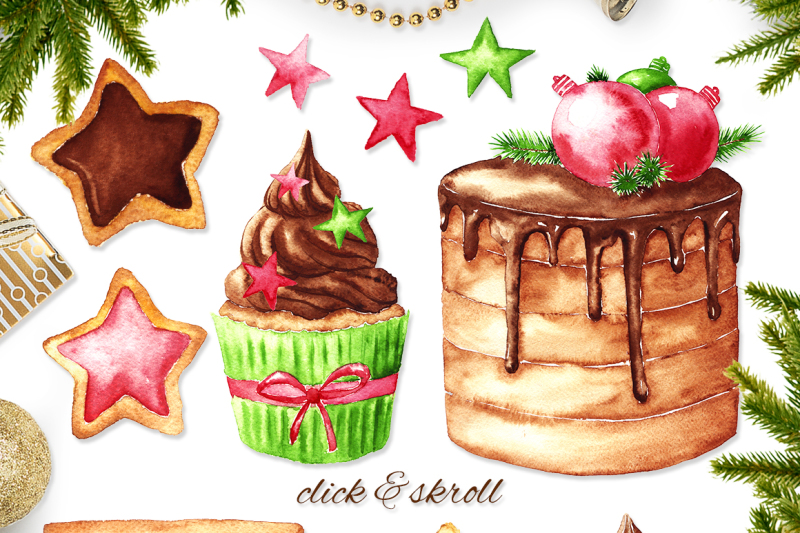 christmas-sweets-watercolor-set