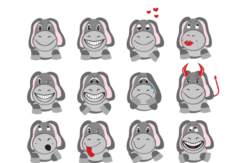 icons-in-the-form-of-a-donkey-depicting-various-emotions-archive-contains-jpeg-300-dpi-isolated-on-white-background-png-transparent-background-eps-10-in-any-desired-size