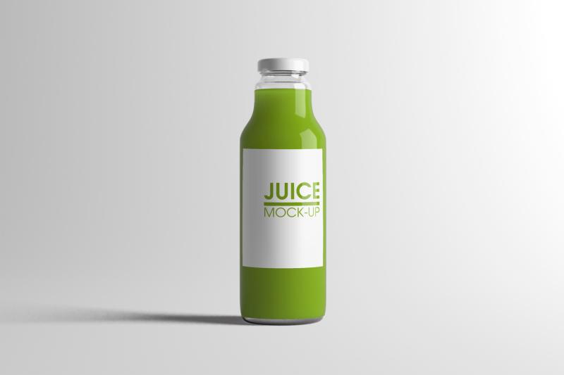 Free Juice Bottle Mock-Up (PSD Mockups)