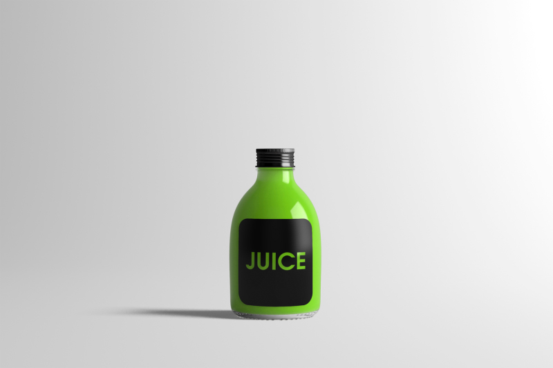 Free Juice Bottle Mock-Up 2 (PSD Mockups)