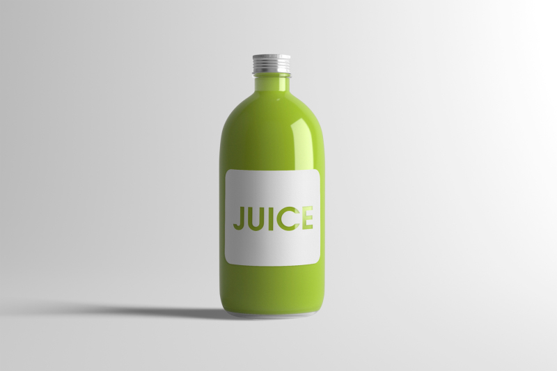 Free Juice Bottle Mock-Up 3 (PSD Mockups)