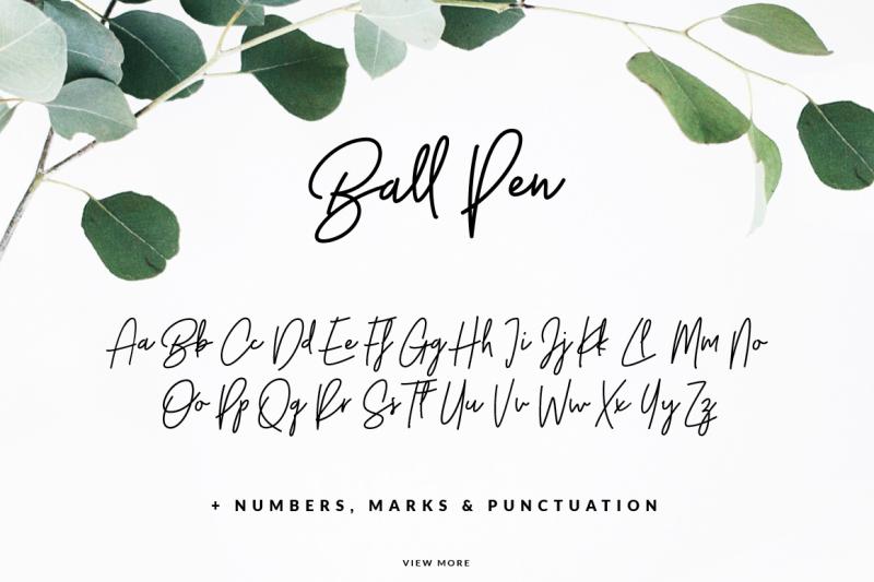 ball-pen-handwritten-font