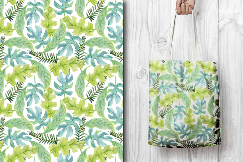 tropical-patterns-set