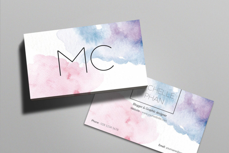 watercolor-business-card