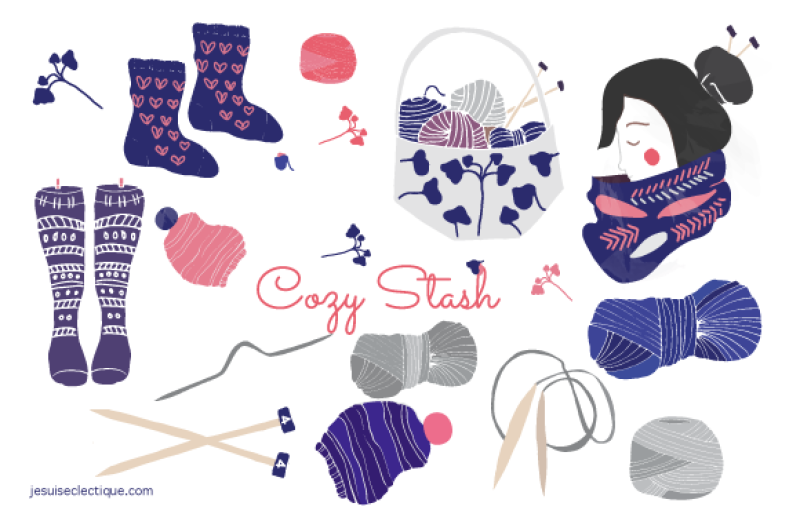 knitting-and-yarn-set